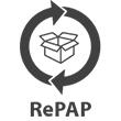 Resirkulert papir papp logokopp