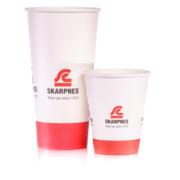 Pappkrus med logo | Logokopp | SKG - Spesialister innen profilert emballasje