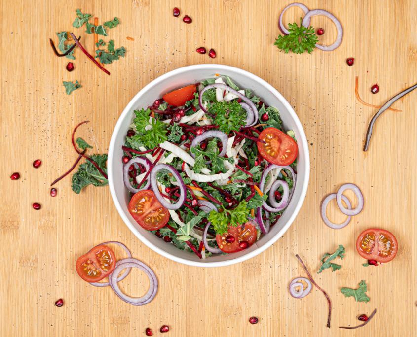 Salatbeger med logo | Logokopp.no - Spesialister innen profilert Take away emballasje